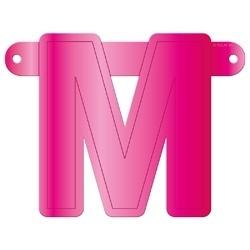 Banner letter M fuchsia