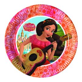 Disney Elena of Avalor gebakbordjes ø 19,5 cm. 8 st.