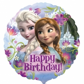 Disney Frozen folieballon happy birthday ø 45 cm.