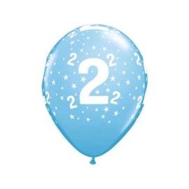 Leeftijd ballonnen 2 jaar licht blauw ø 28 cm. 6 st.