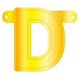 Banner letter D geel