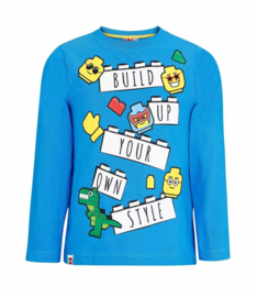 Lego longsleeve blauw Build Up Your Own Style mt. 104