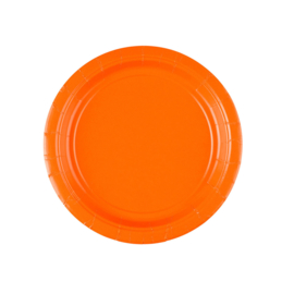 Oranje wegwerp gebak- dessertbordjes ø 17,7 cm. 8 st.