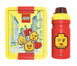 Lego broodtrommel en drinkfles Iconic girl