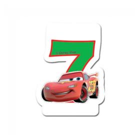 Disney Cars 2D 7e verjaardag taart kaars