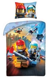 Lego City dekbedovertrek brandweer en politie