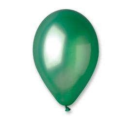 Ballon metallic groen ø 30 cm. 10 st.