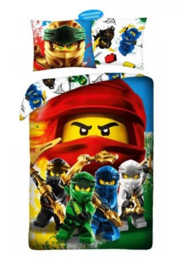 Lego Ninjago dekbedovertrek 140 x 200 cm.