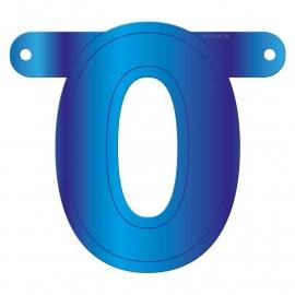 Banner letter O blauw
