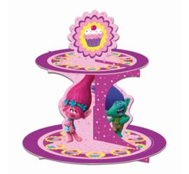 Trolls cupcake standaard 2-laags