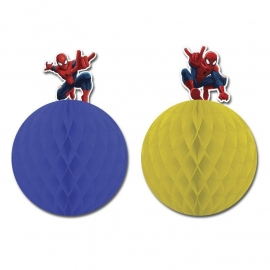 Spiderman honeycomb hangdecoratie 2 st.