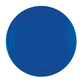 Bright Royal Blue wegwerp bordjes ø 22,9 cm. 8 st.