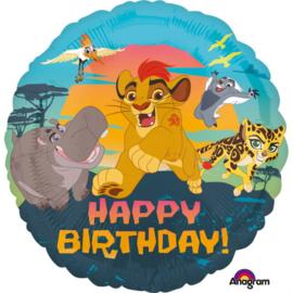 Disney The Lion Guard happy birthday folieballon ø 43 cm.