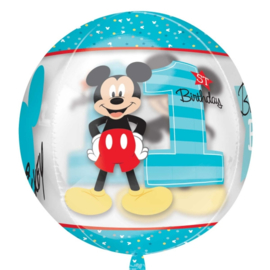 Disney Mickey Mouse 1st birthday see thru ballon