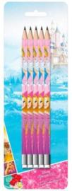 Disney Princess Assepoester en Rapunzel uitdeel potloden 5 st.