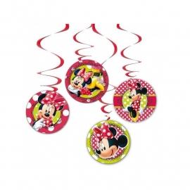Disney Minnie Mouse draaislingers rood 4 st.