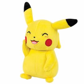 Pokémon Pikachu pluche knuffel knipoog 20 cm.