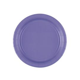 Paarse wegwerp gebakbordjes ø 17,8 cm. 8 st.