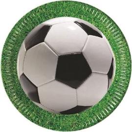 Voetbal bordjes ø 23 cm. 8 st.
