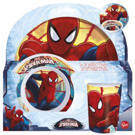 Spiderman melamine ontbijtset