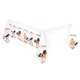 Paarden tafelkleed Beautiful Horses 120 x 180 cm.