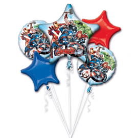 Avengers assemble folieballonnen boeket 5-delig
