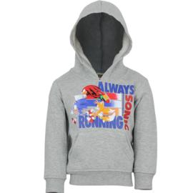 Sonic The Hedgehog hoodie grijs mt. 96