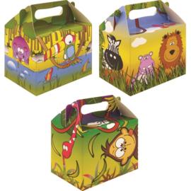 Jungle party box 14 x 10 x 14 cm. p/stuk