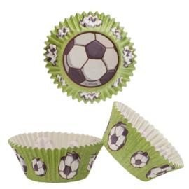 Voetbal cupcake vormpjes 50 st.