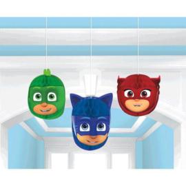 PJ Masks honeycomb decoratie 3 st.