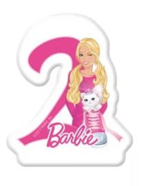 Barbie taart kaars 2 jaar 6 cm.
