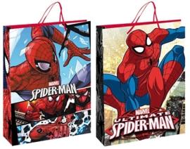 Spiderman luxe cadeau tasje 23 x 16  x 9 cm. p/stuk