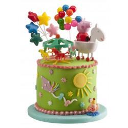 Peppa Pig taart en cupcakes
