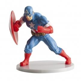 Avengers Captain America taart topper decoratie 7,5 cm.