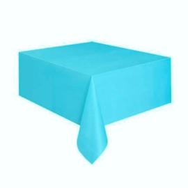 Turquoise tafelkleed 137 x 274 cm.