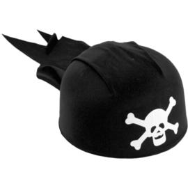 Kinder piratenhoed zwart