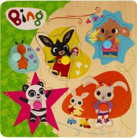 Bing houten puzzel 22 x 22 cm.
