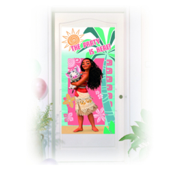 Disney Vaiana deurposter 75 x 150 cm.