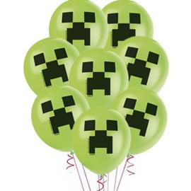 Minecraft ballonnen Creeper ø 30,4 cm. 8 st.