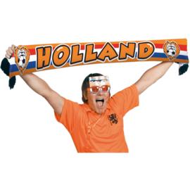 Oranje sjaal Hollandse leeuw 1,2 mtr.