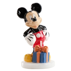 Disney Mickey Mouse verjaardagskaars 8 cm.