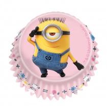 Minions cupcake vormpjes roze 60 st.