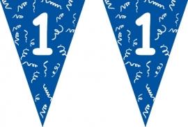 Vlaggenlijn blauw 1 jaar 5 mtr.
