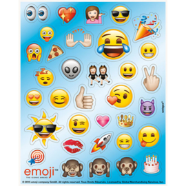 Emoji - Smiley stickervel 4 st.