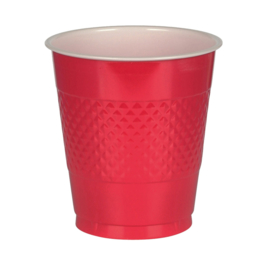 Rode plastic wegwerp bekers 355 ml. 10 st.