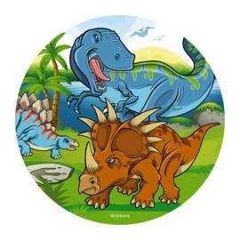 Dinosaurus taart en cupcake decoratie