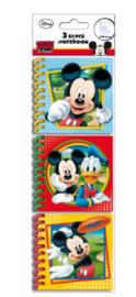 Disney Mickey Mouse uitdeel notitieboekjes 3 st.