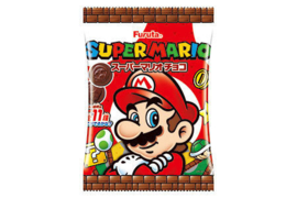 Super Mario Bros melk mini uitdeel chocolaatje ø 3 cm. 8 st.