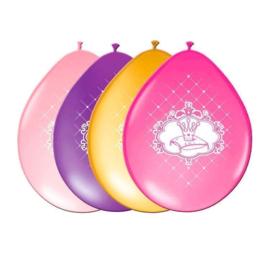 Prinsessen ballonnen ø 30 cm. 6 st.