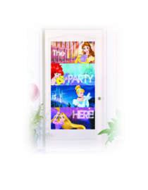 Disney Princess Heartstrong deurposter 75 x 150 cm.